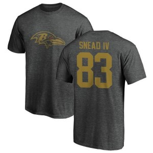 Willie Snead IV Baltimore Ravens Men's by One Color T-Shirt - Ash