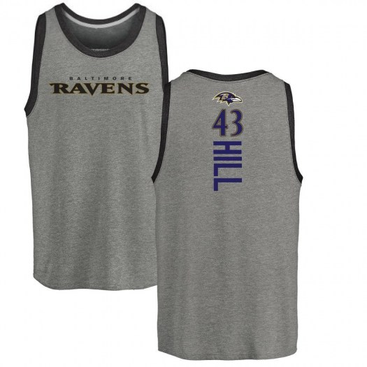 Justice Hill Baltimore Ravens Youth by Backer Tri-Blend Tank Top - Ash