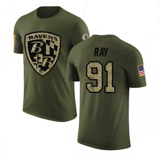 Shane Ray Baltimore Ravens Men's Legend Olive Salute to Service T-Shirt