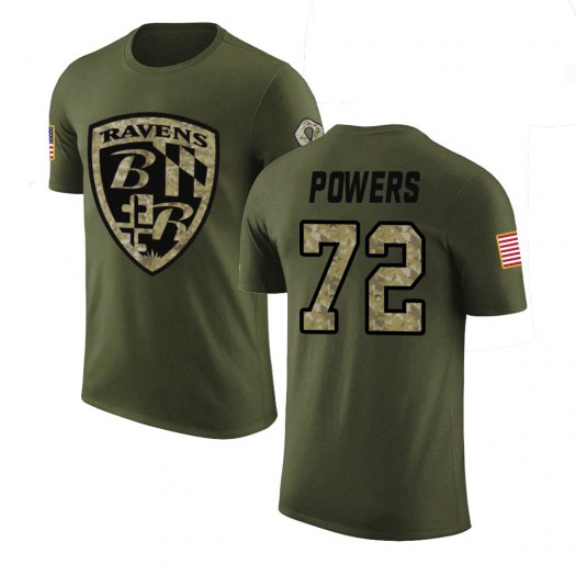 Ben Powers Baltimore Ravens Youth Legend Olive Salute to Service T-Shirt