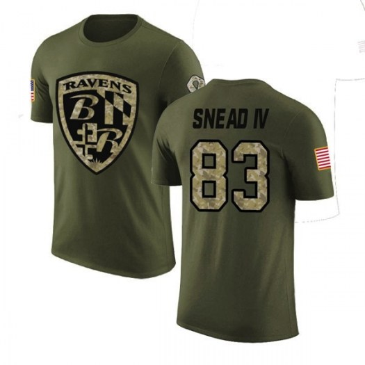 Willie Snead IV Baltimore Ravens Youth Legend Olive Salute to Service T-Shirt
